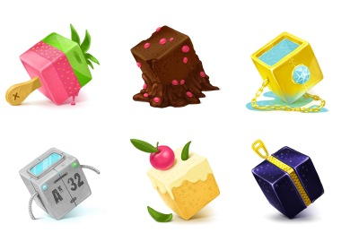 Cubes Art Icons