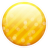 Gold button icon