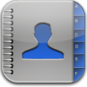 Contacts blue glow icon