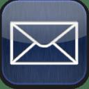 Mail blue glow icon