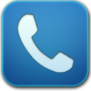 Phone blue icon