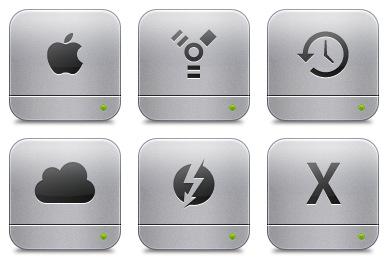Unibody HD Flurry Style Icons
