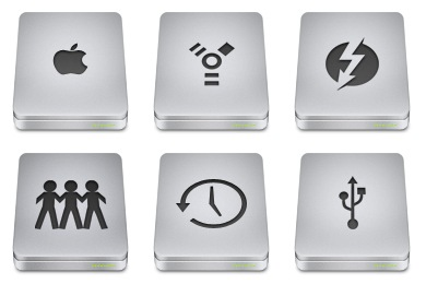 Unibody Drive Icons