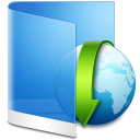 Folder-Blue-Downloads icon