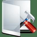 Folder White Configure icon