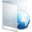 Folder White Web icon