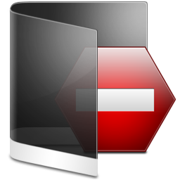 Folder Black Private icon