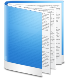 Folder Blue Doc icon