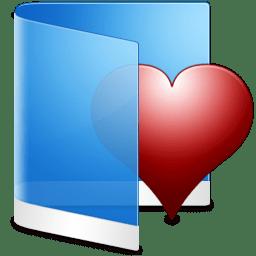 Folder Blue Favorite icon