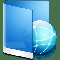 Folder Blue Network icon