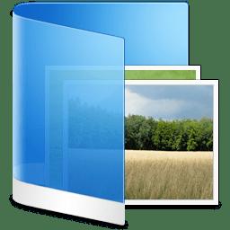 Folder Blue Picture icon