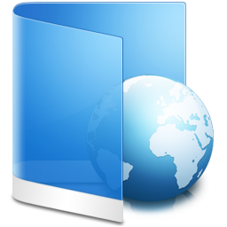 Folder Blue Web icon