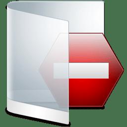 Folder White Private icon