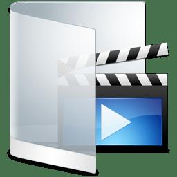 Folder White Videos icon