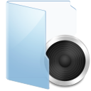 Folder Blue Audio icon