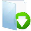 Folder Blue Download icon