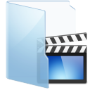 Folder Blue Video icon