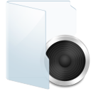Folder Light Audio icon
