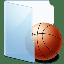 Folder Blue Games icon