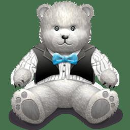 Gift Light Grey bear icon