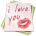 Paper-kiss icon