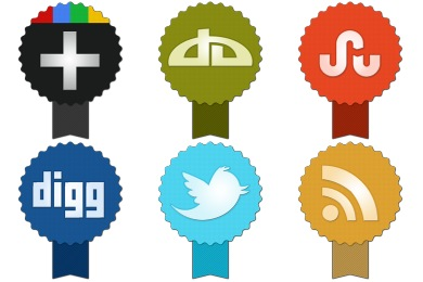 Badge Social Icons