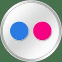 Flickr White icon