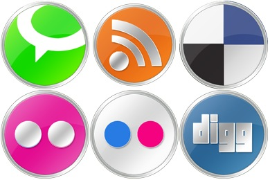 Round Social Icons