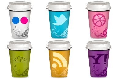 Social Coffee Icons