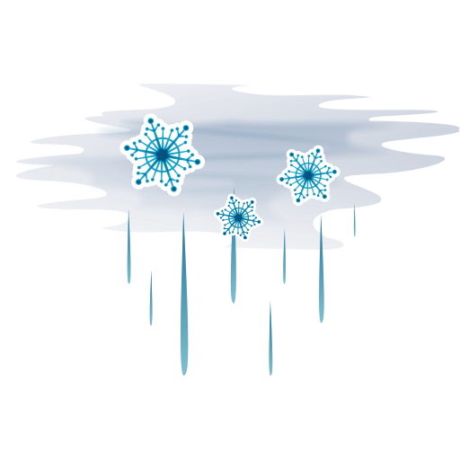 Hail-with-fog icon