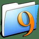 Aqua Smooth Folder Classic icon