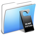 Aqua Smooth Folder Do not disturb icon