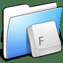 Aqua Smooth Folder Fonts icon