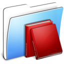 Aqua Smooth Folder Library icon