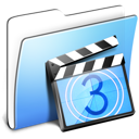 Aqua Smooth Folder Movies icon