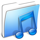 Aqua Smooth Folder Music icon