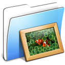Aqua Smooth Folder Pictures icon