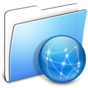 Aqua Smooth Folder Sites icon