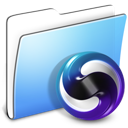 Aqua Smooth Folder Themes icon