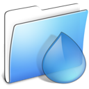 Aqua Smooth Folder Torrents icon