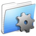 Aqua Stripped Folder Developer icon