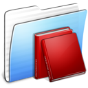 Aqua Stripped Folder Library icon