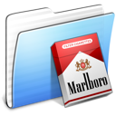Aqua Stripped Folder Marlboro icon
