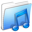 Aqua Stripped Folder Music icon