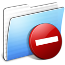 Aqua Stripped Folder Private icon