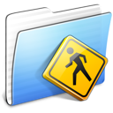 Aqua Stripped Folder Public icon