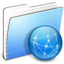 Aqua Stripped Folder Sites icon