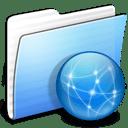Aqua Stripped Folder Sites icon