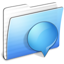 Aqua Stripped Folder iChats icon