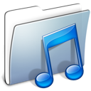 Graphite Smooth Folder Music icon